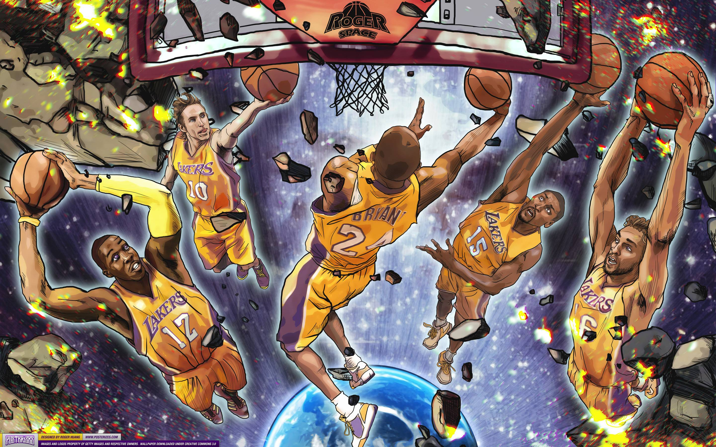 The Best Nba Wallpapers - Los Angeles Lakers Art , HD Wallpaper & Backgrounds