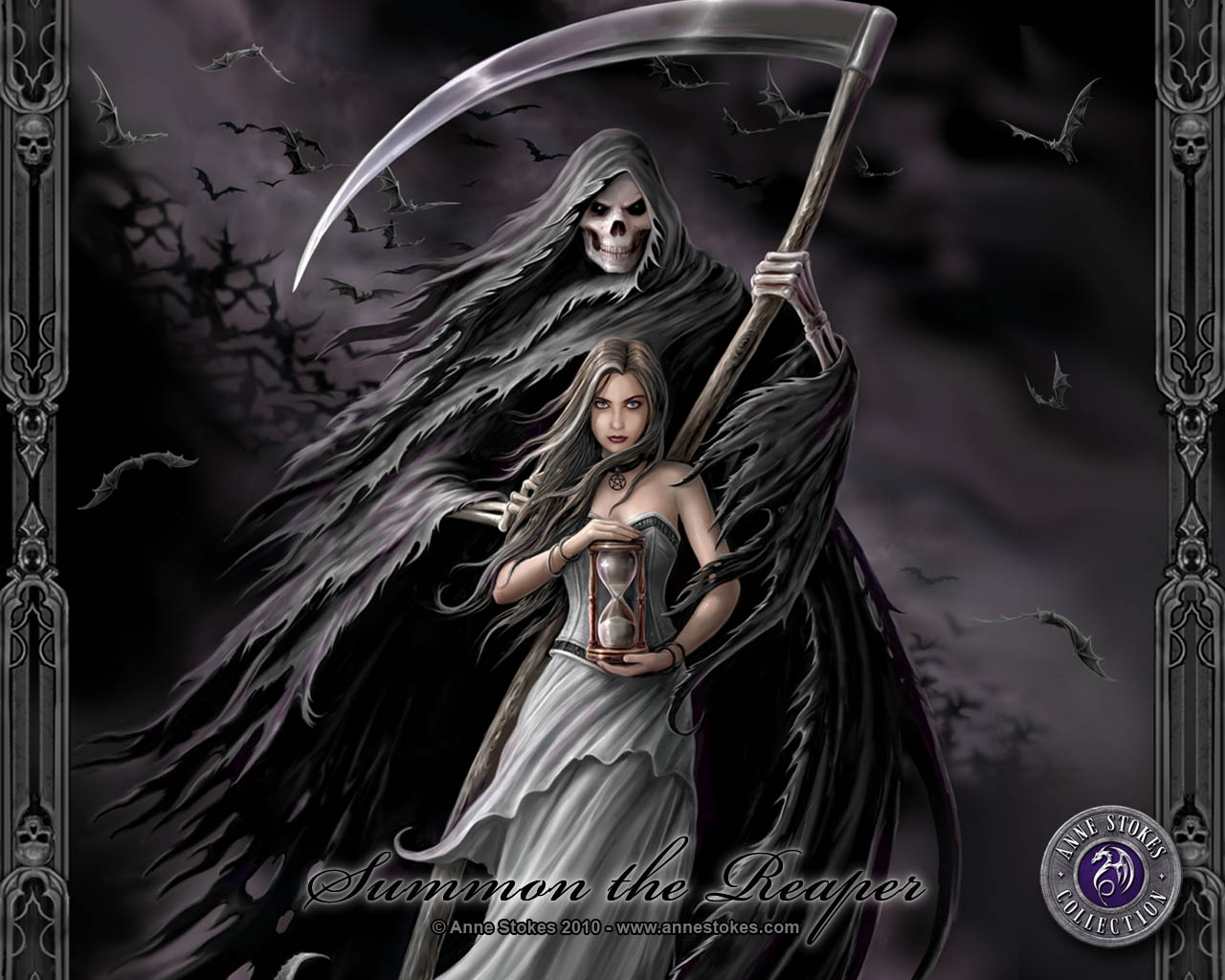 Grim Reaper And Life , HD Wallpaper & Backgrounds