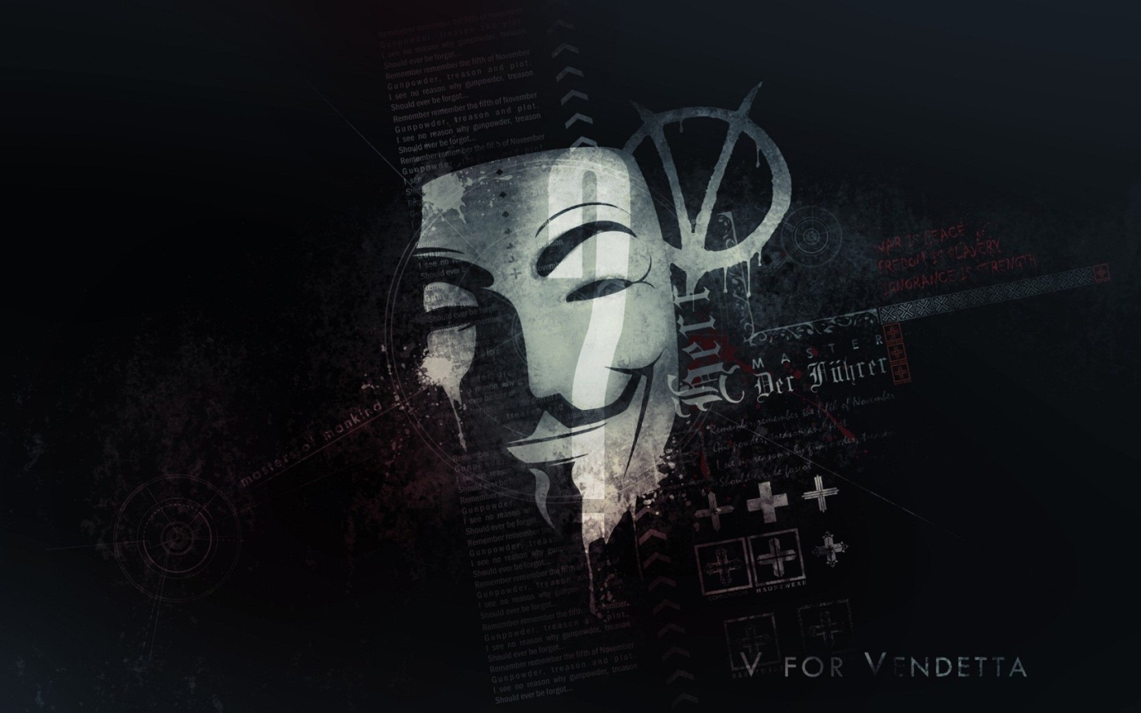 Anonymous Wallpaper Photographic Paper Anonymous Mask Wallpaper