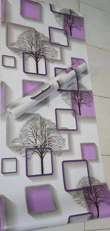 Wallpaper Stiker Sticker Dinding Motif Kotak Kotak Motif