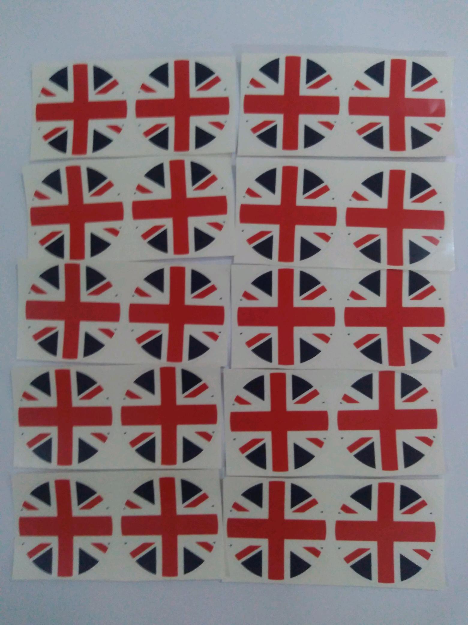 Stiker Brompton Bendera Inggris - Cupcake Topper Dino , HD Wallpaper & Backgrounds