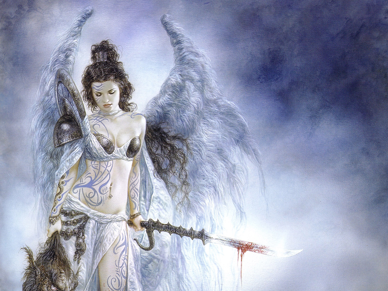 Collection Of Angels Wallpapers - Fantasy Art Luis Royo , HD Wallpaper & Backgrounds