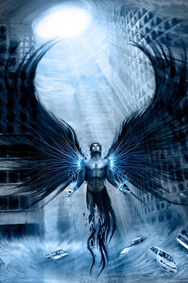 Download Wallpaper Dark Angel Fallen Angel Broken Wings