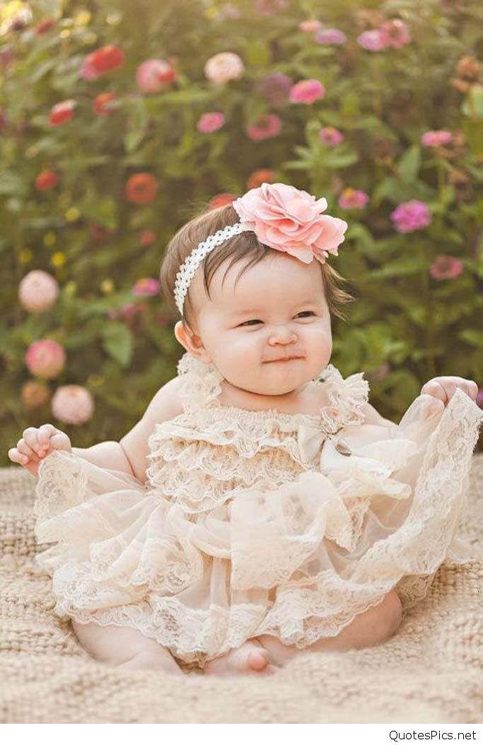 Cute Girl Baby - Baby Flower Girl Dresses , HD Wallpaper & Backgrounds