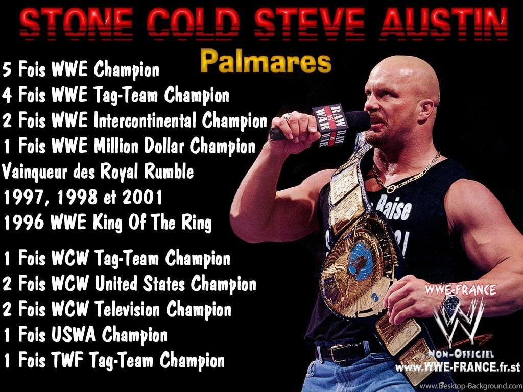 Stone Cold Wwf Champion 910409 Hd Wallpaper Backgrounds