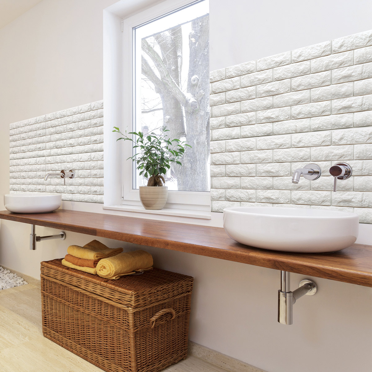 A06501 Peel Stick 3d Wall Panels Foam Block Brick 3d Wall