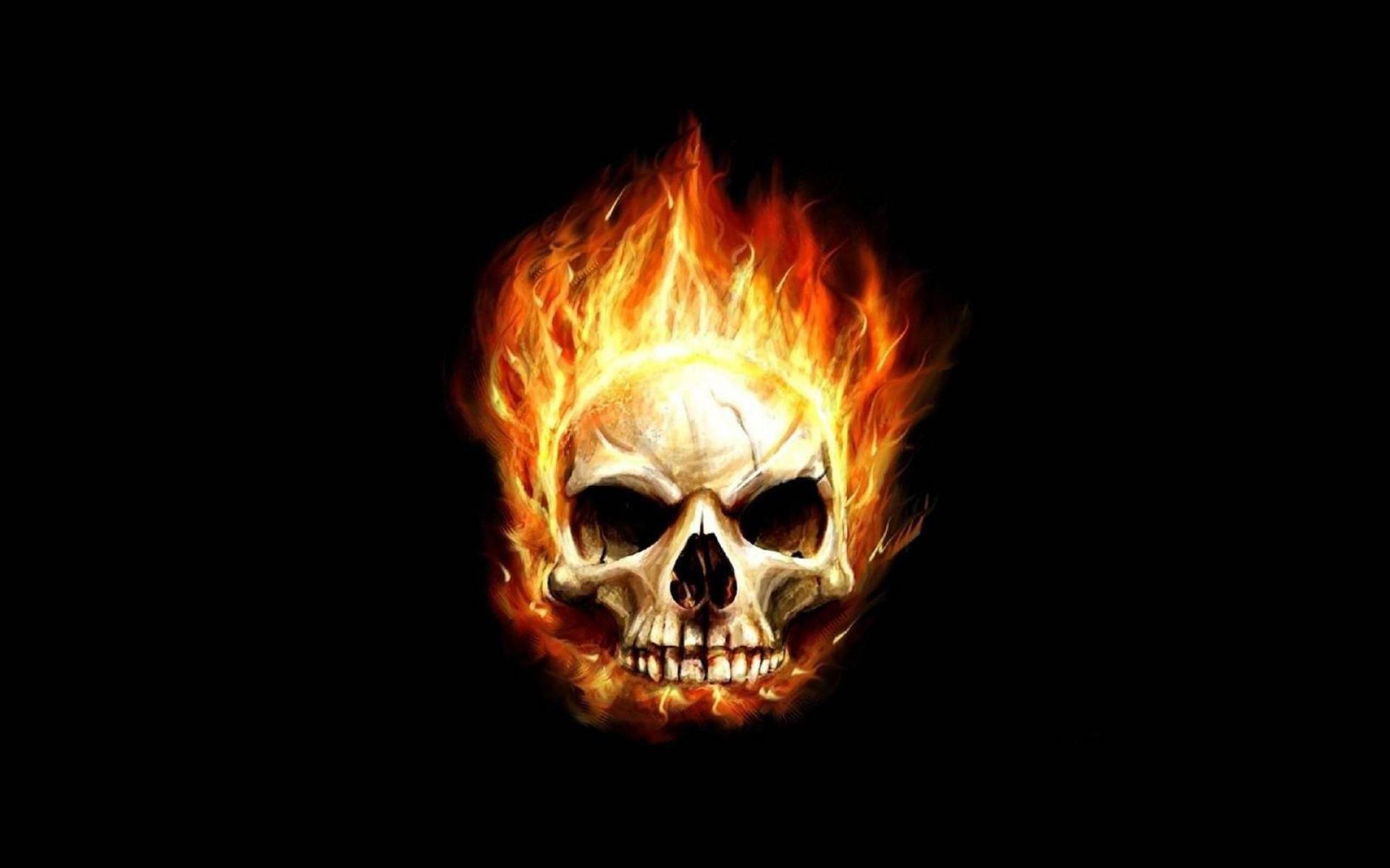 Skull Fire Background 910957 Hd Wallpaper Backgrounds