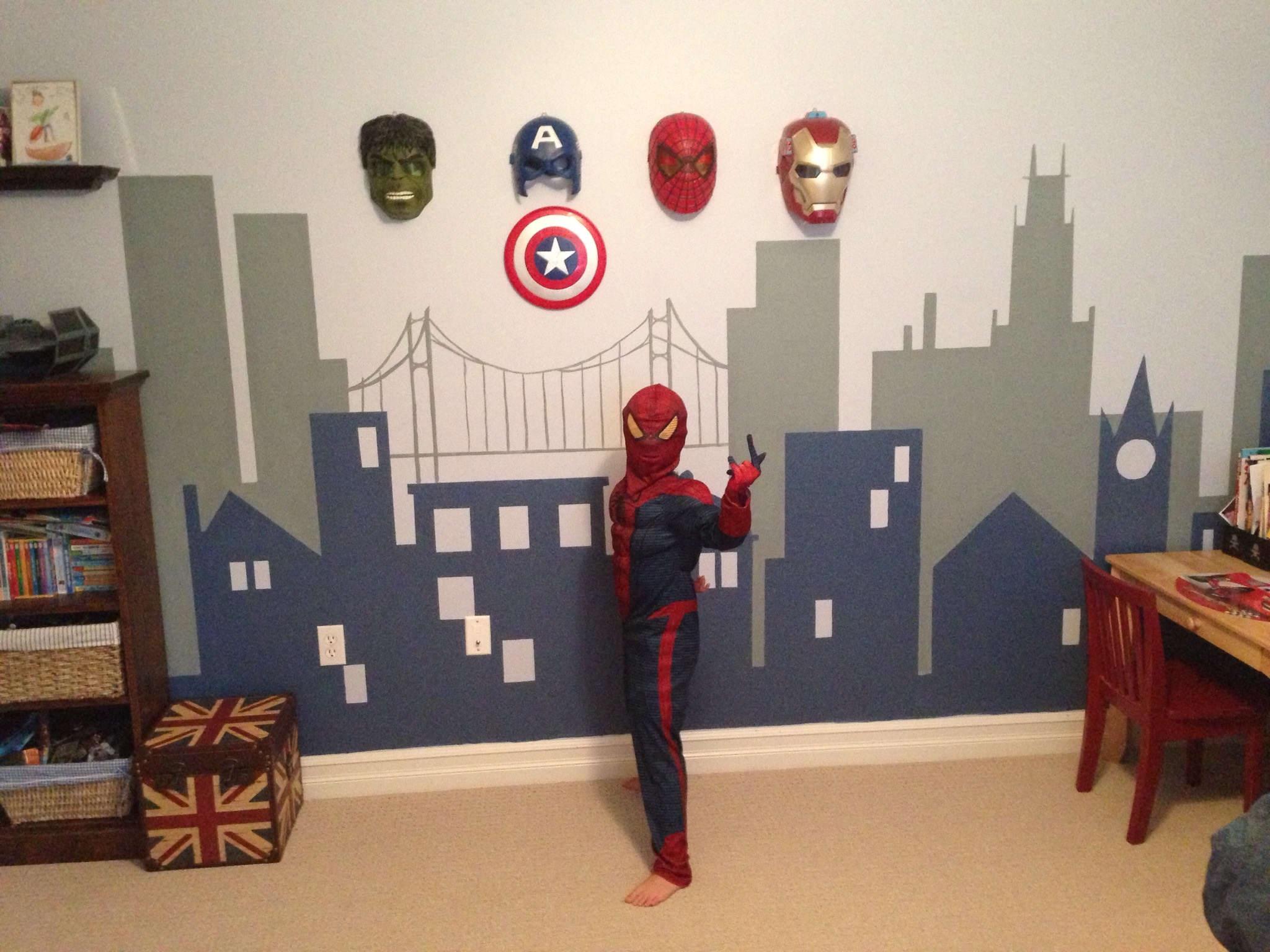 Avenger Room Wall Decor , HD Wallpaper & Backgrounds