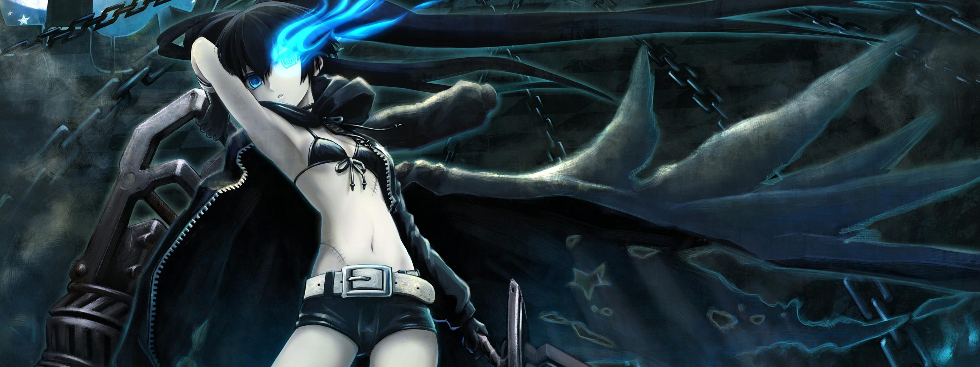 Black Rock Shooter Hd Wallpaper Hd Anime Dual Monitor 916433