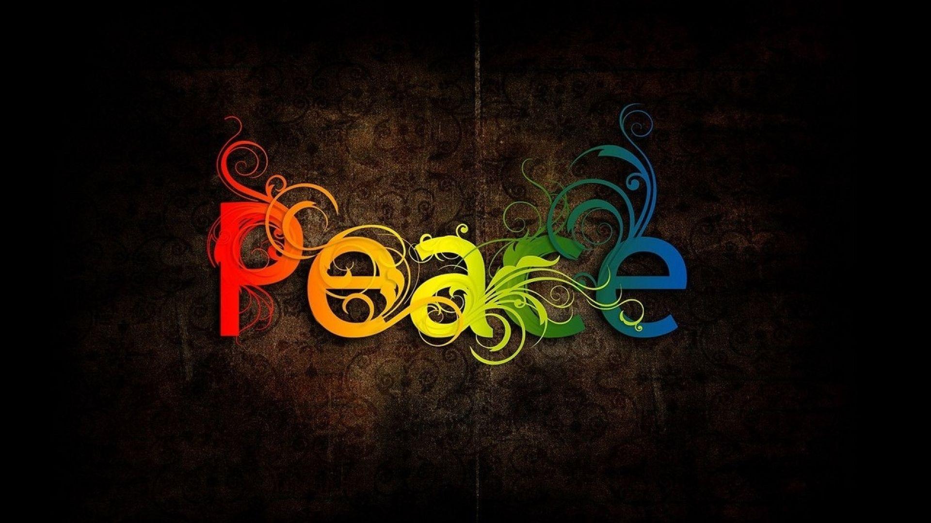 Colorful Peace Wallpaper Wide - Peace Wallpaper For Desktop , HD Wallpaper & Backgrounds