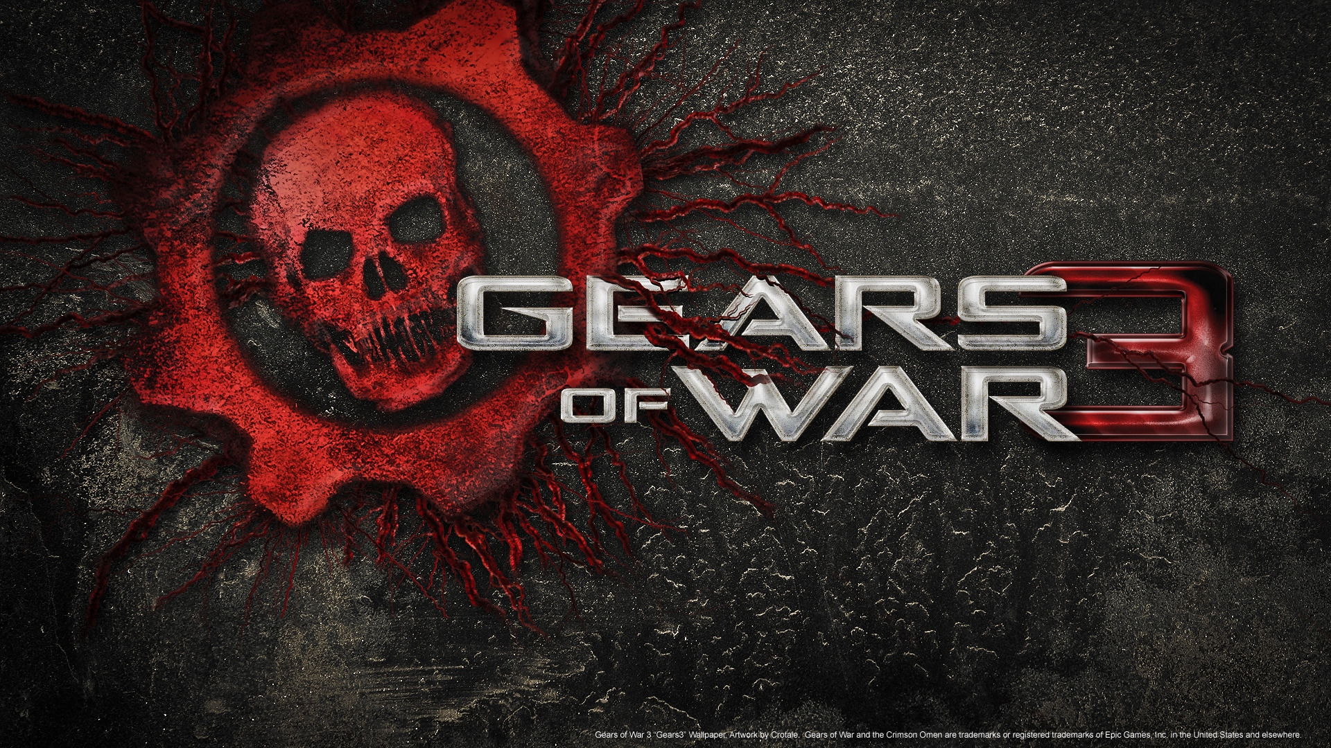 Wallpaper Gears Of War 3 Skull Font Background Gears Of Wars