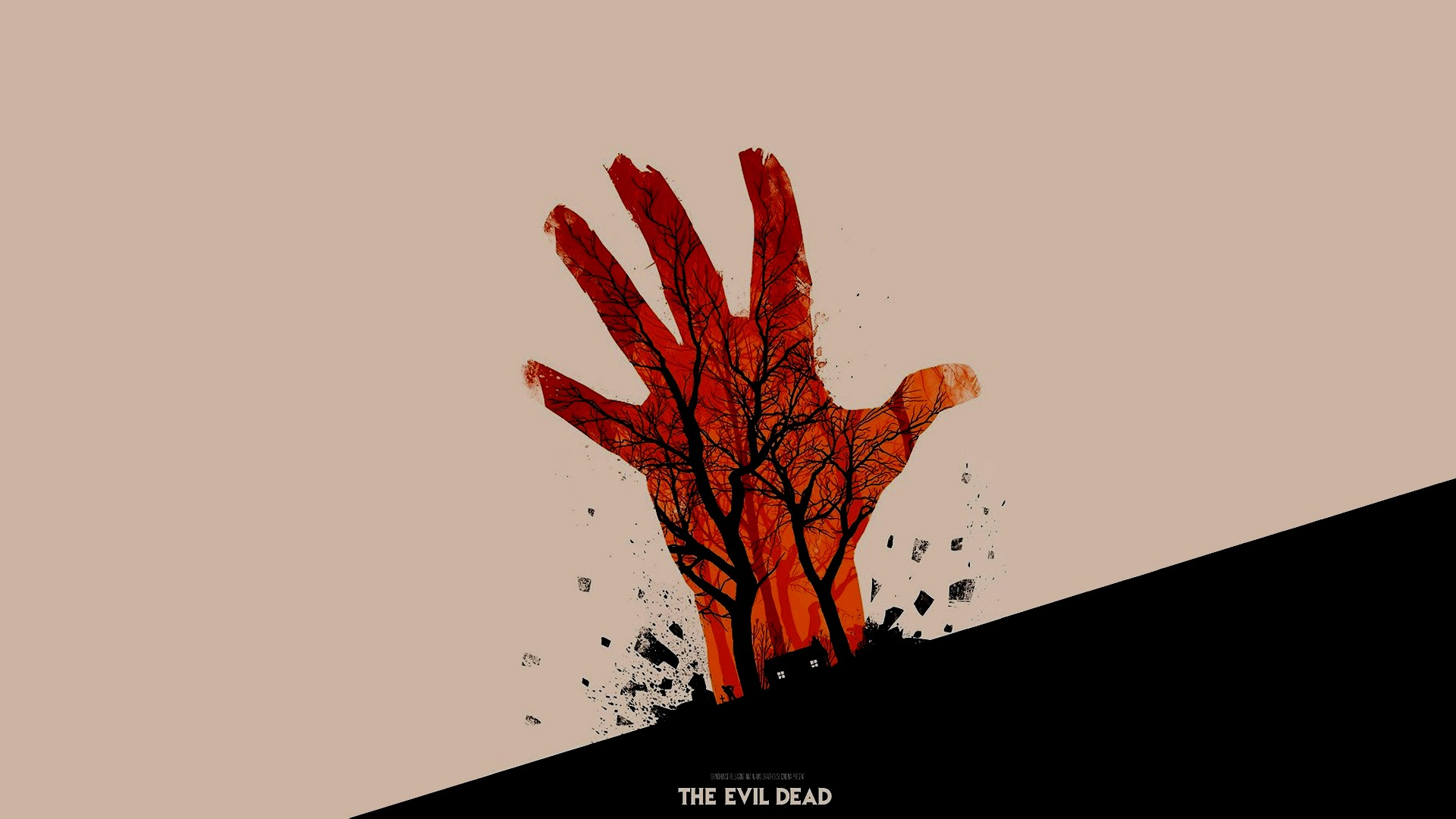 movies, the Evil Dead, minimalism, olly Moss, artwork