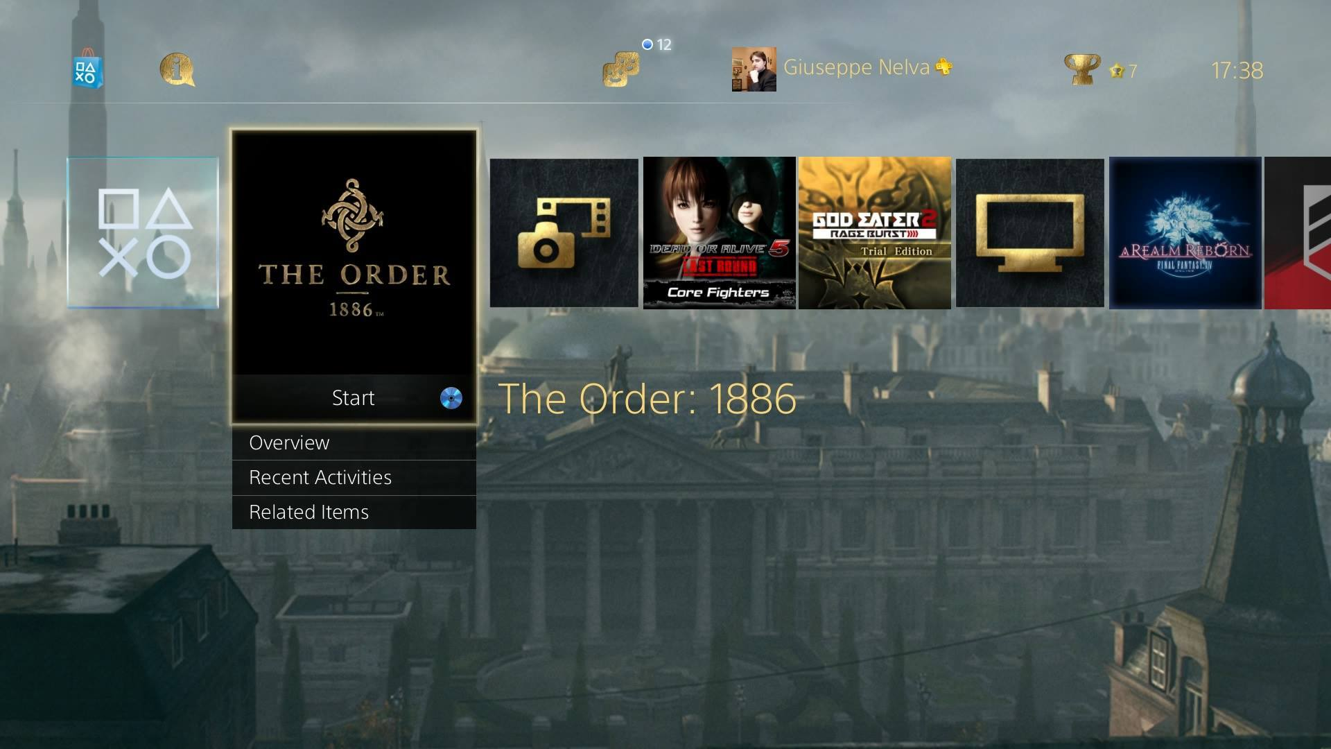 The Order 1886 Free Ps4 Dynamic Theme From Promo Website