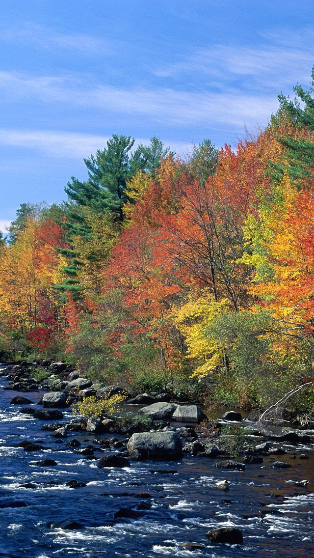 New England Fall Iphone , HD Wallpaper & Backgrounds