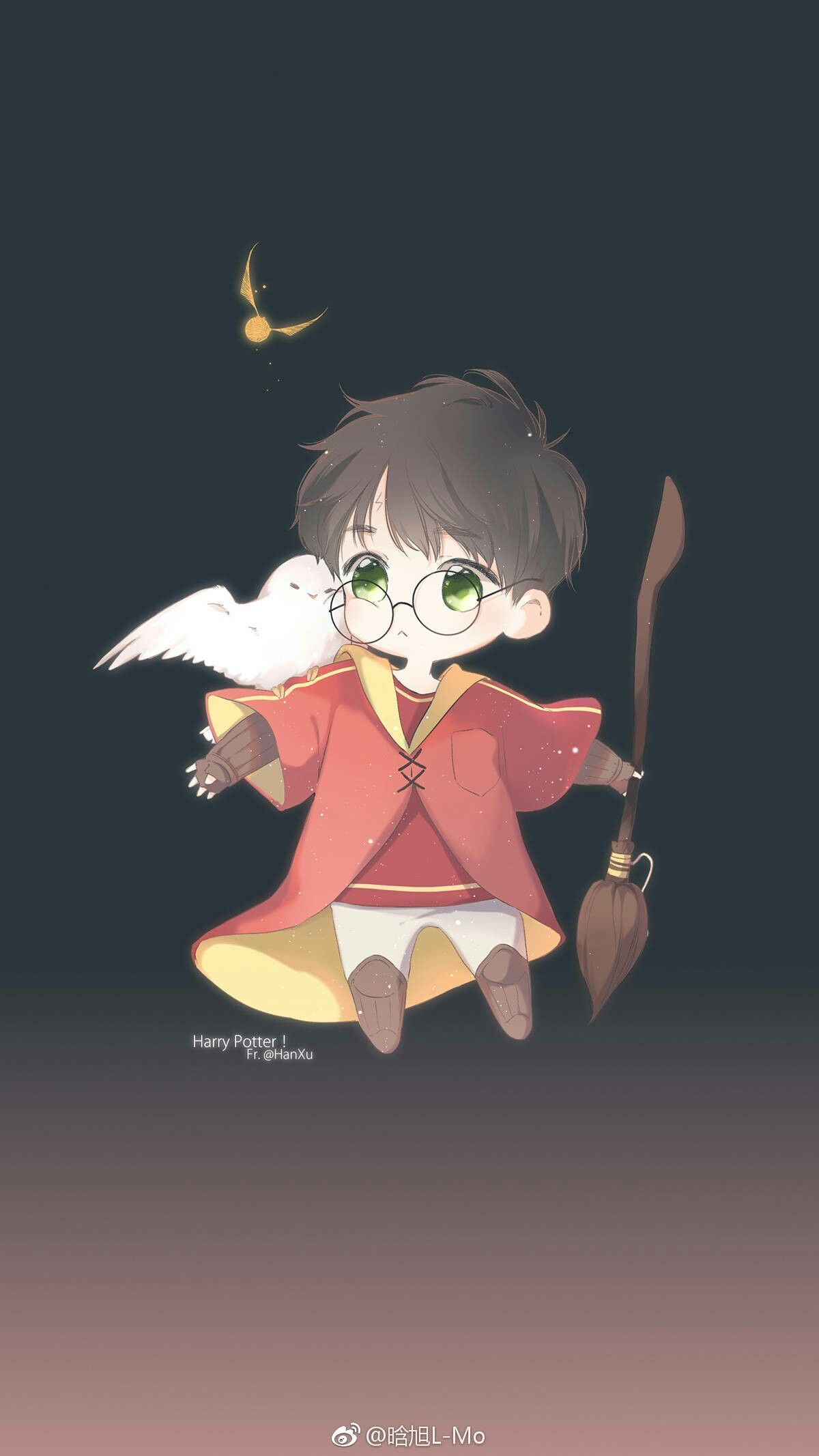 Harry Potter Anime, Harry Potter Vui Nhộn, Minh Họa - Harry Potter Anime Drawing , HD Wallpaper & Backgrounds