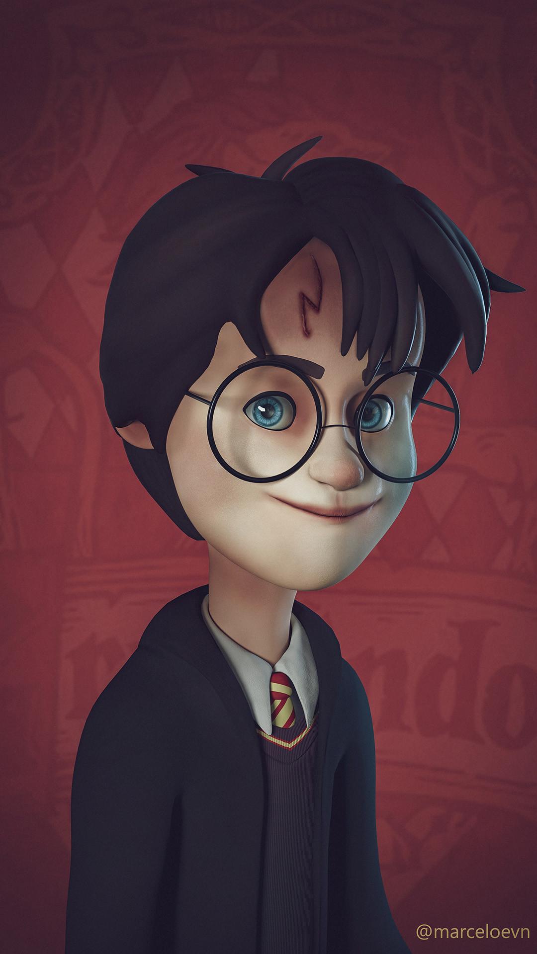 Marcelo Sousa Harry Potter Wallpaper - Harry Potter Wallpaper Cartoon , HD Wallpaper & Backgrounds