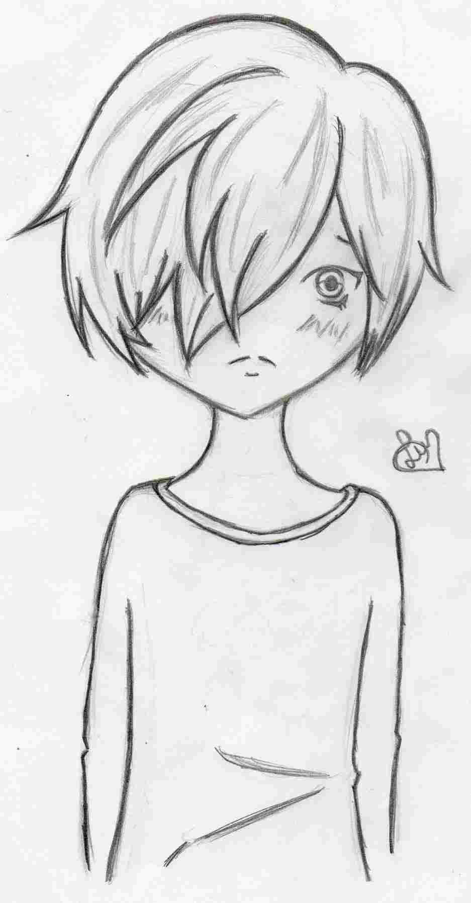 U Couple Wallpapersrhpinterestcom Cute Pencil Sketches - Boy Easy Anime Drawings , HD Wallpaper & Backgrounds
