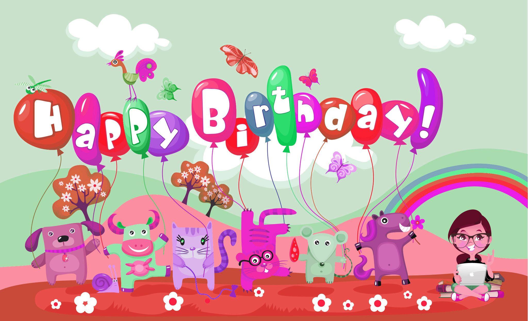 Funny Birthday Wallpaper Anime - Birthday Card Wallpaper Hd , HD Wallpaper & Backgrounds