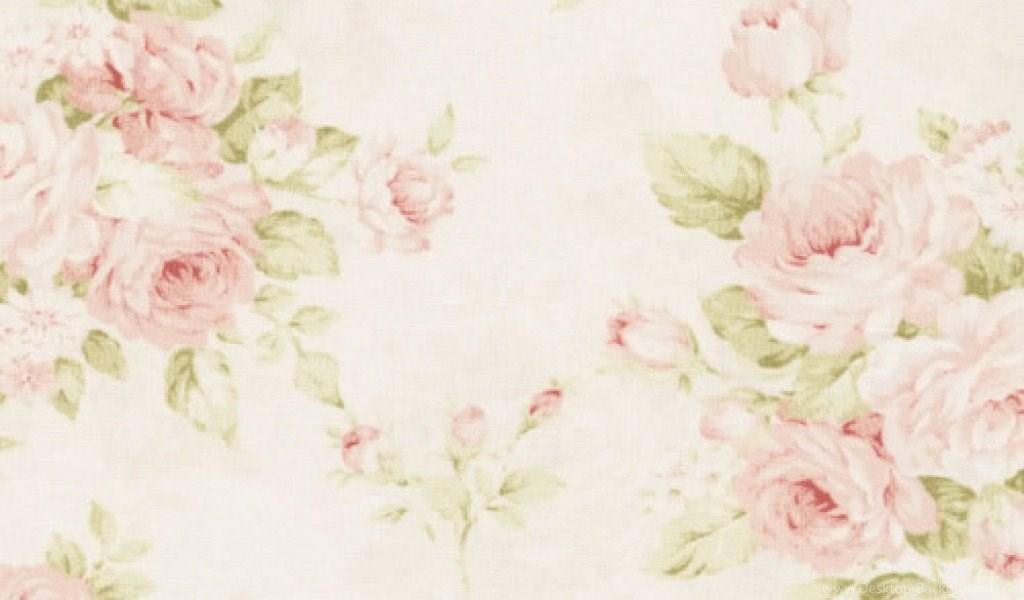 Pink Vintage Floral Background