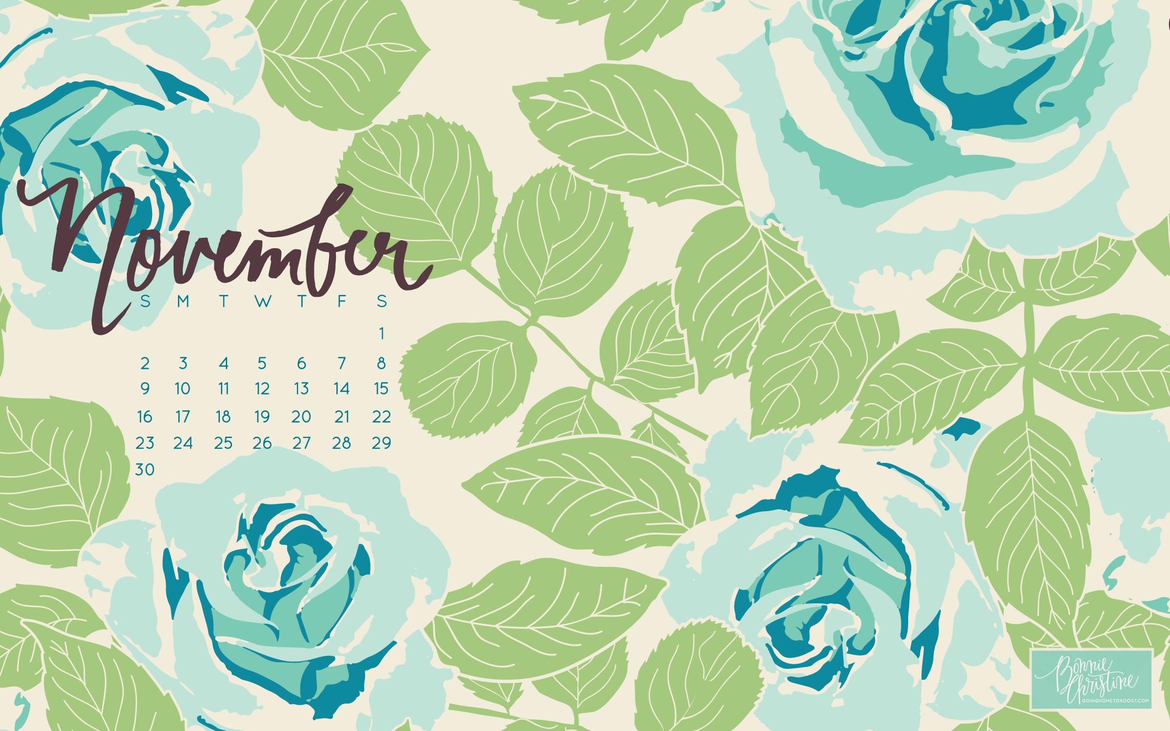 November Desktop Calendars November 2018 Wallpaper For