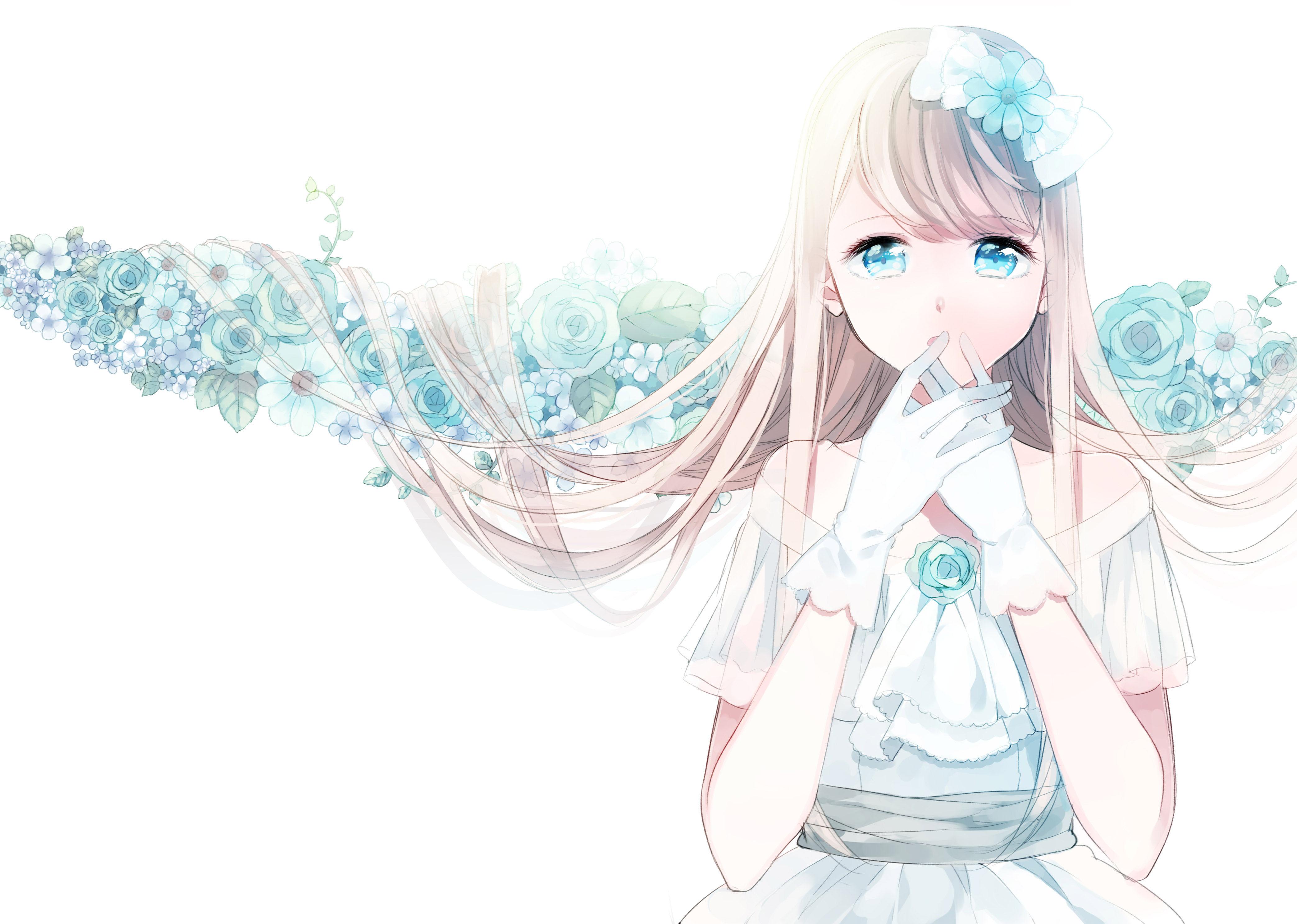 Cute Anime Girl Wallpaper Cute Anime Wallpaper Blue 931787