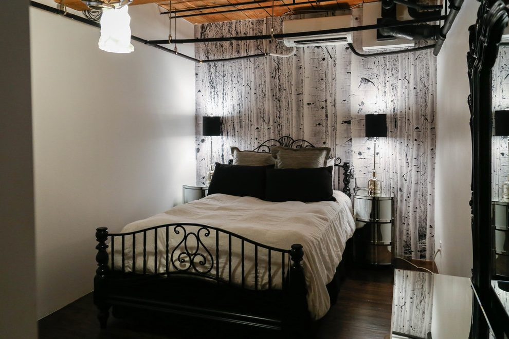 Denver Contemporary Bedroom With Nature Wallpaper And ...
