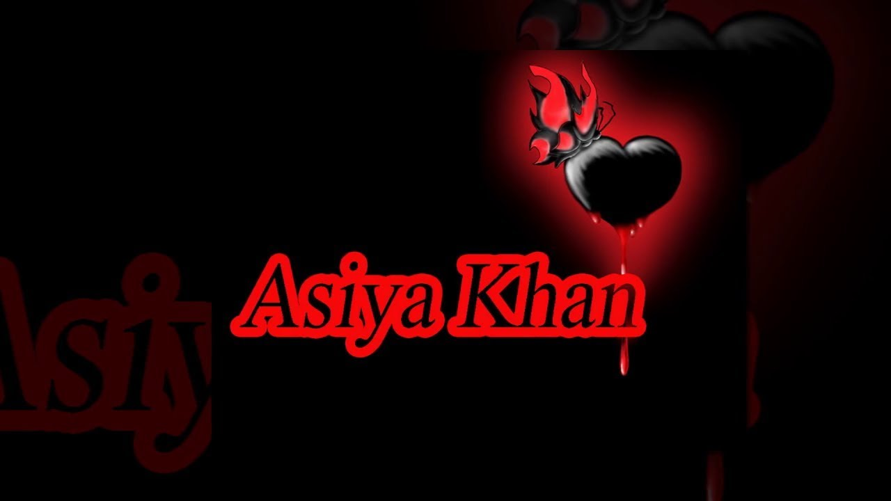 Asiyakhan Name Whatsapp Status Graphic Design 935198