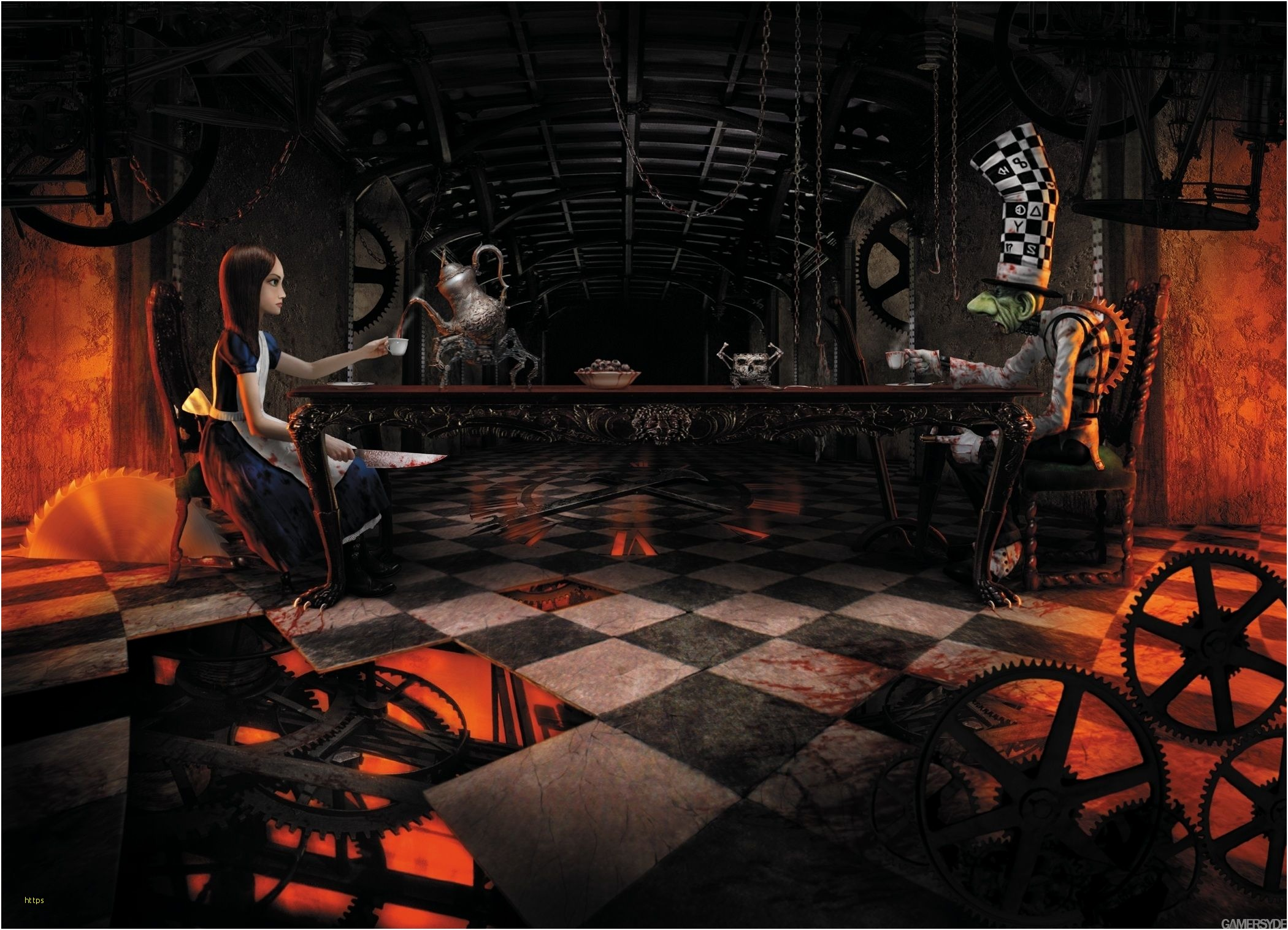 Alice Madness Returns Wallpaper Awesome Alice Madness Dark Alice In Wonderland Background 939041 Hd Wallpaper Backgrounds Download