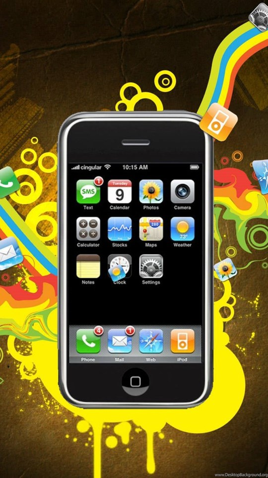 Mobile, Android, Tablet - Iphone 4 Black Background , HD Wallpaper & Backgrounds