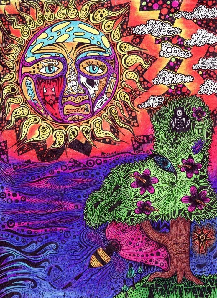 Trippy Hippie Drawing Pinterest Hippie Art Hippie Trippy