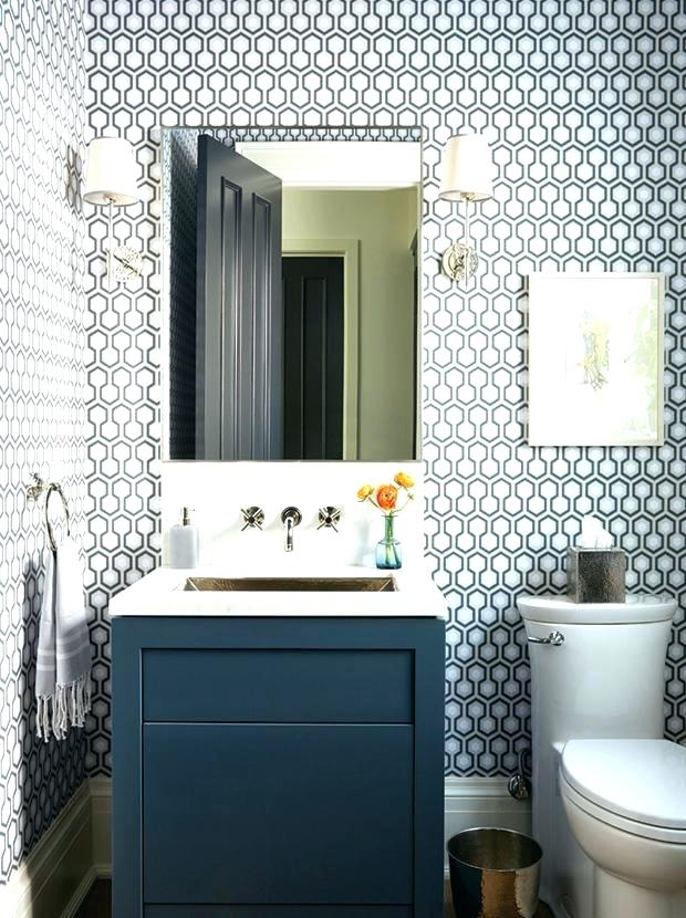 Modern Wallpaper Ideas For Small Bathroom Bathrooms - Bold Pattern Wallpaper In Bathroom , HD Wallpaper & Backgrounds