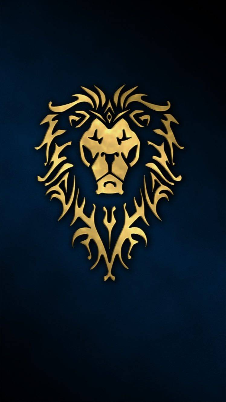 Lion, Alliance, Warcraft, World Of Warcraft Hd Wallpaper - Wow Alliance Wallpaper Iphone , HD Wallpaper & Backgrounds