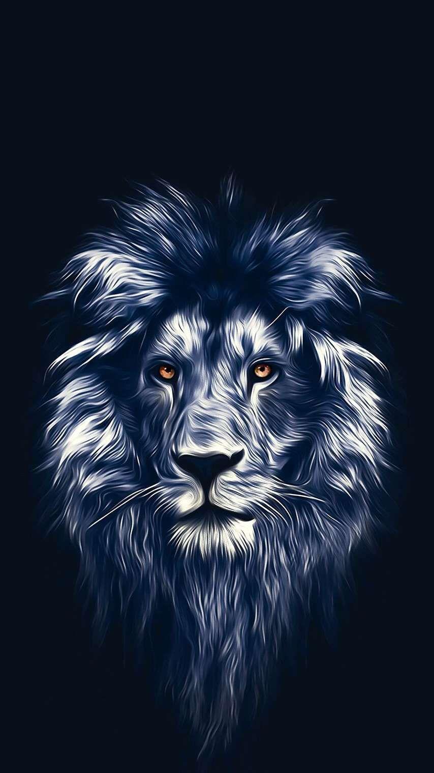 Lion Face Art Iphone Wallpaper - Artistic Wallpaper For Iphone , HD Wallpaper & Backgrounds
