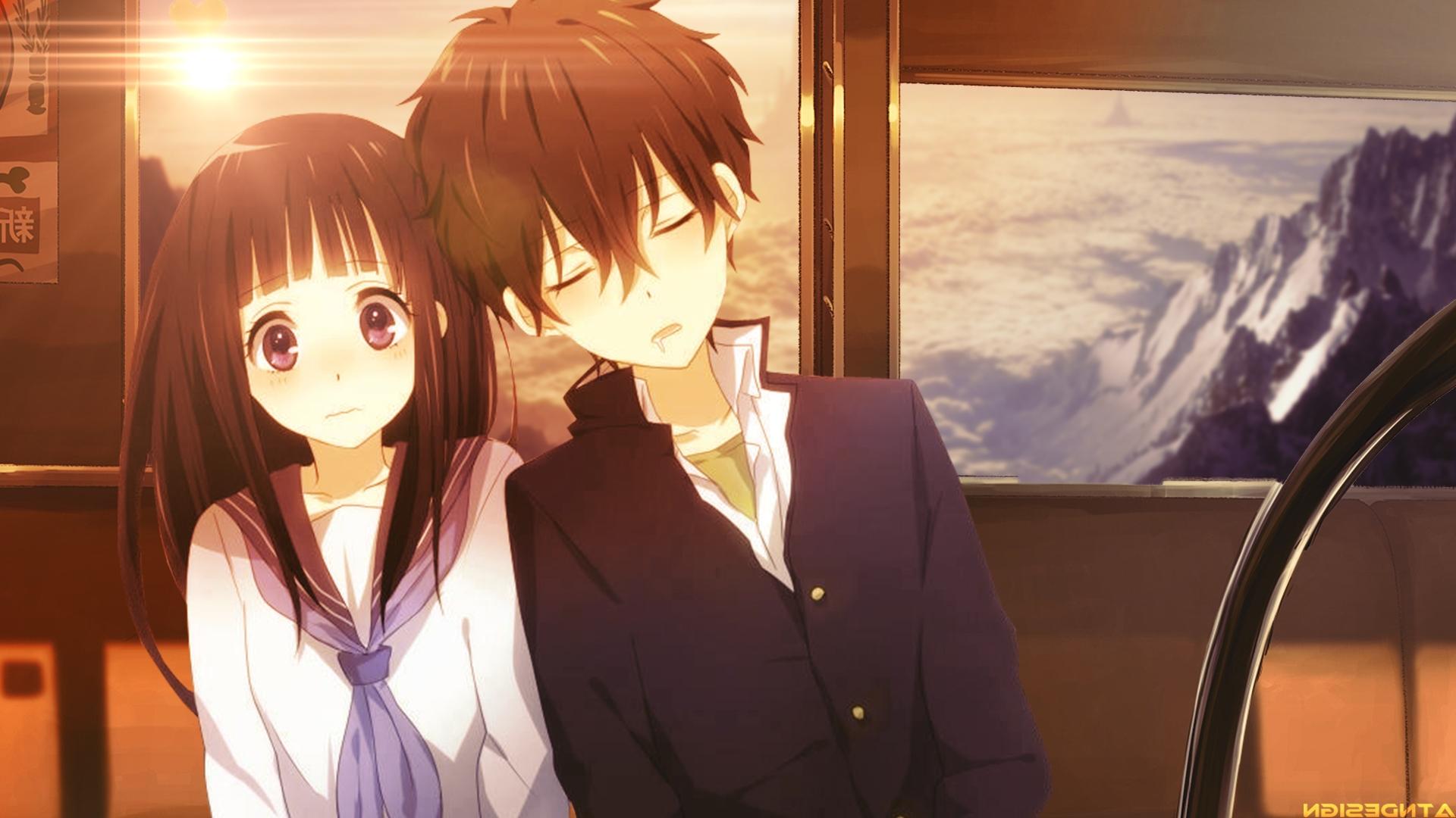 Cute Anime Couple Wallpaper Cute Anime Couple Wallpaper จ ท น