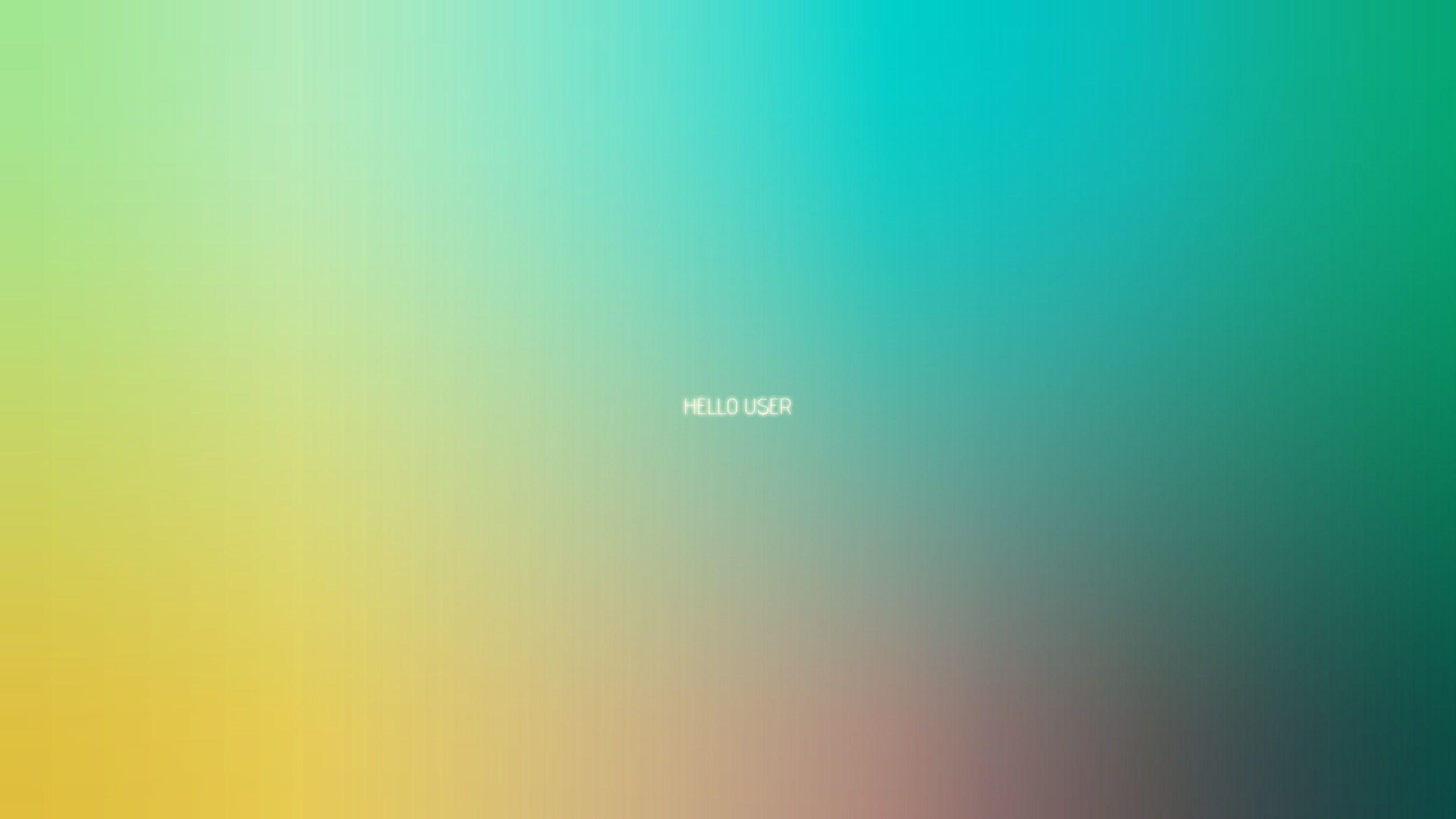 Minimalistic Multicolor Gradient Pastel Hello Gradient