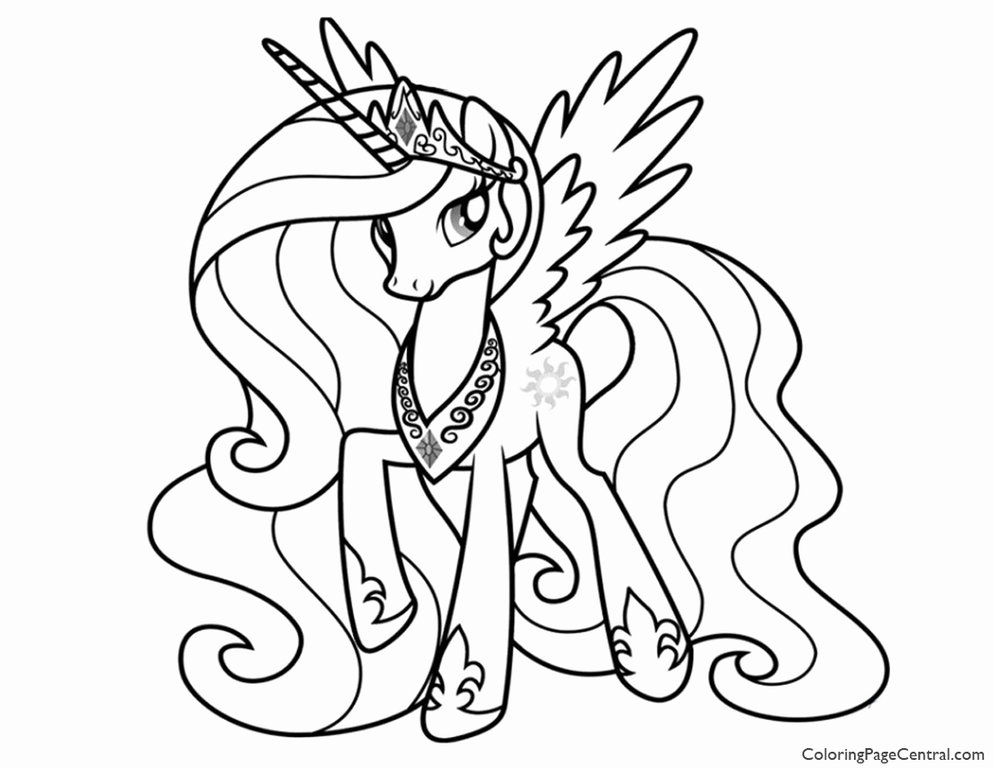 - Download By Size - My Little Pony Coloring Princess Celestia
