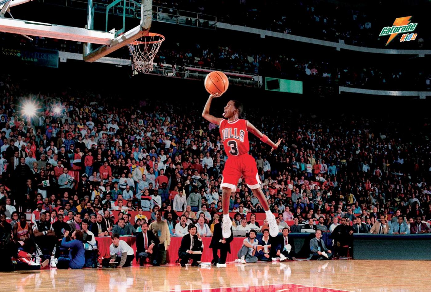 Gatorade Basketball Michael Jordan Dunk Hd 954652 Hd