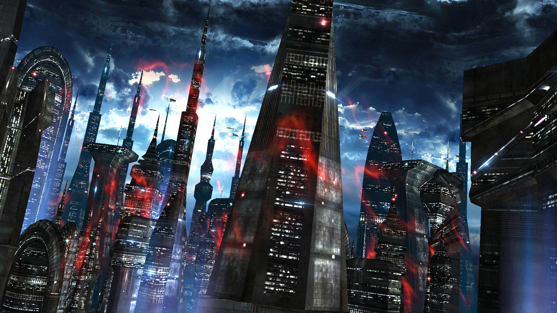Space Colony Turns Your Home Screen Into An Alien Cityscape