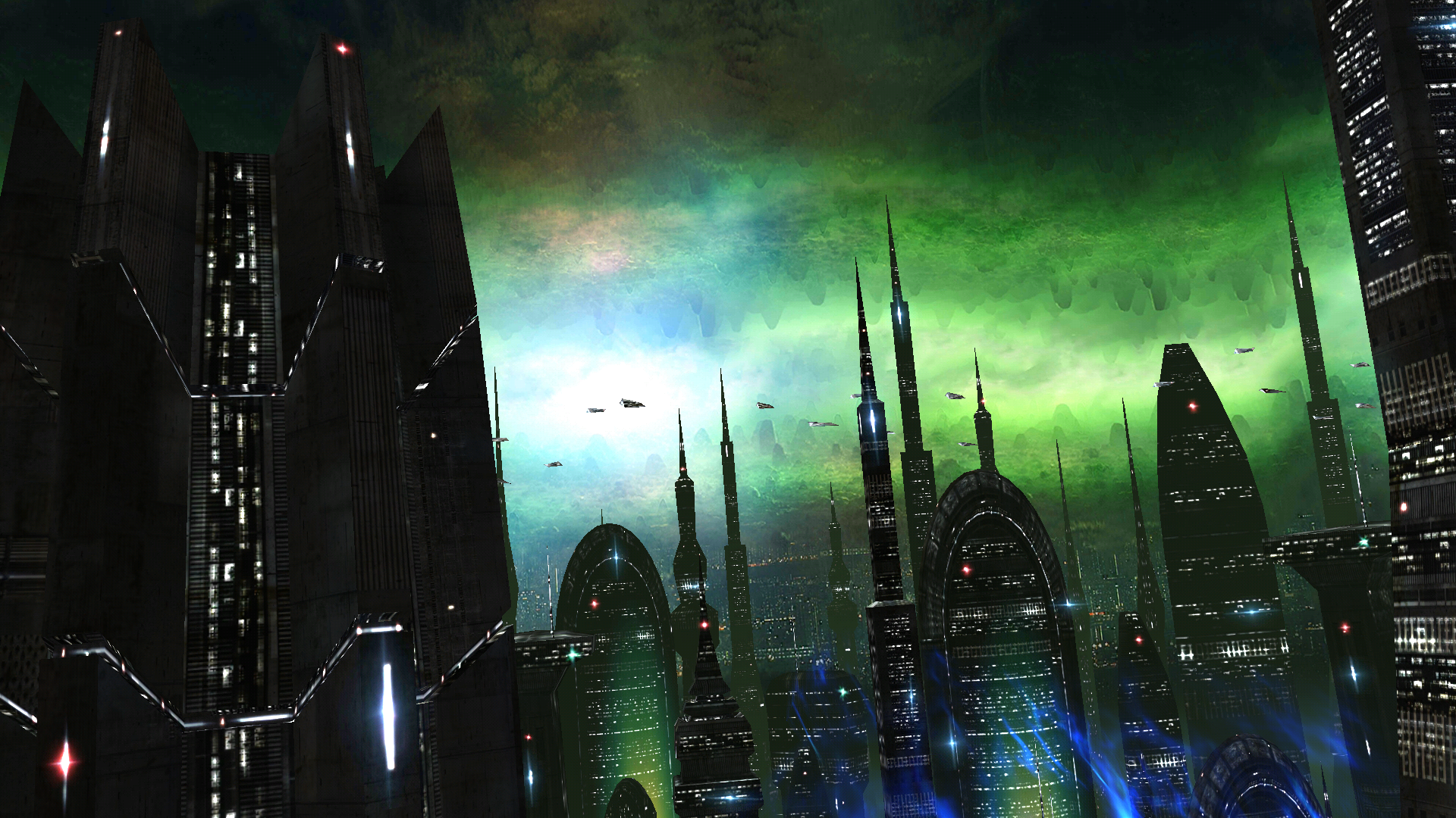 Space Colony Turns Your Home Screen Into An Alien Cityscape - Space Colony Live , HD Wallpaper & Backgrounds
