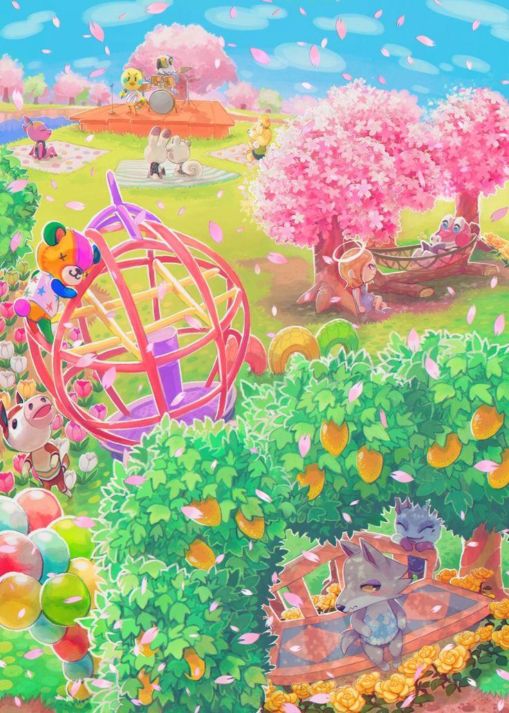 Animal Crossing New Leaf Background Animal Crossing Spring