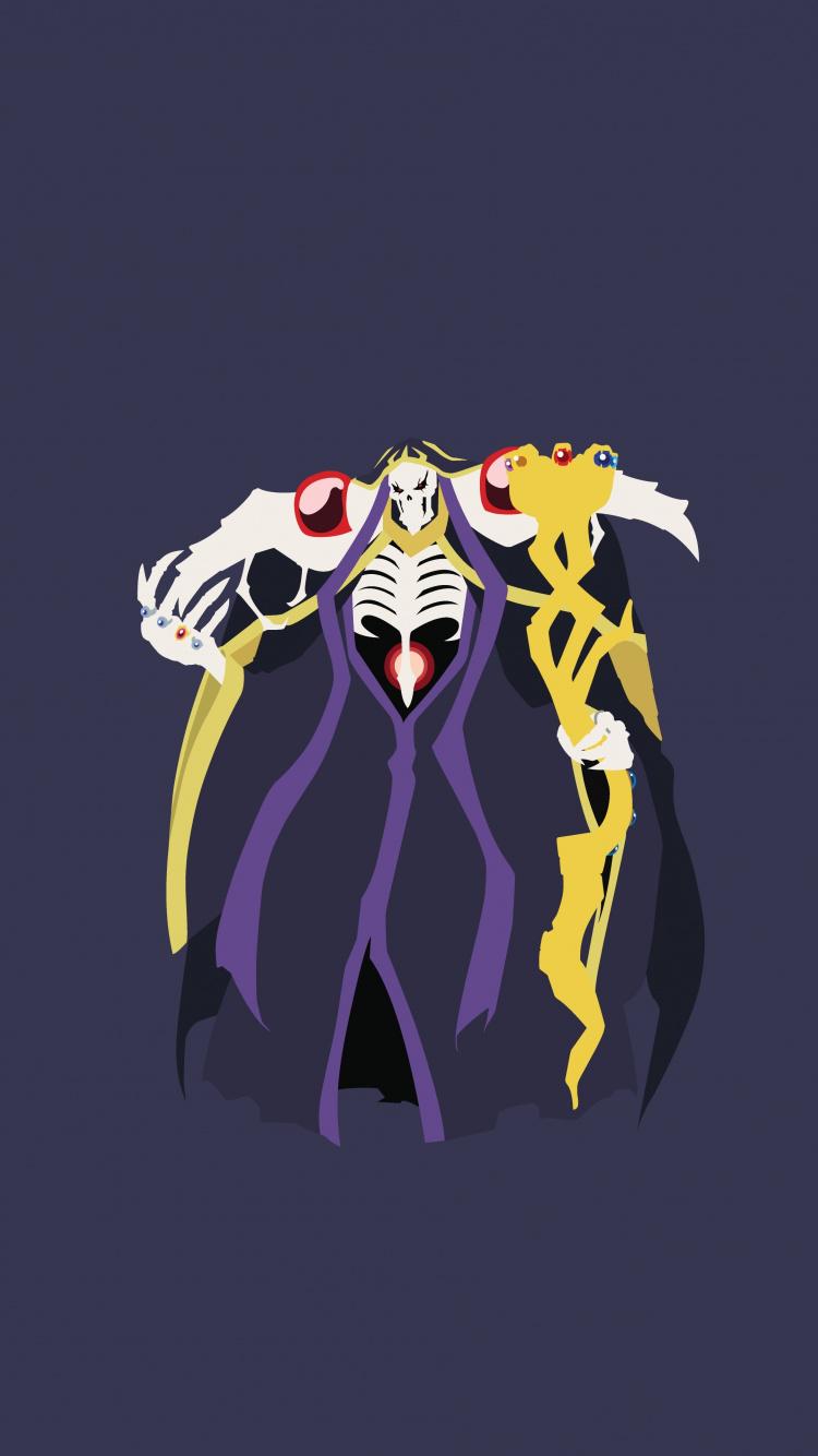 Downaload Minimal Anime Ainz Ooal Gown Overlord Overlord Ainz Ooal Gown Art 965561 Hd Wallpaper Backgrounds Download