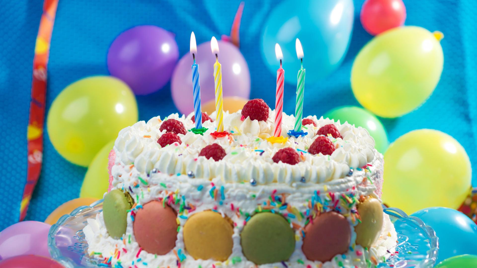 Desserts, Happy Birthday, Cakes, Cake Decorating, Dessert - Happy Birth Day Cake With Candle , HD Wallpaper & Backgrounds