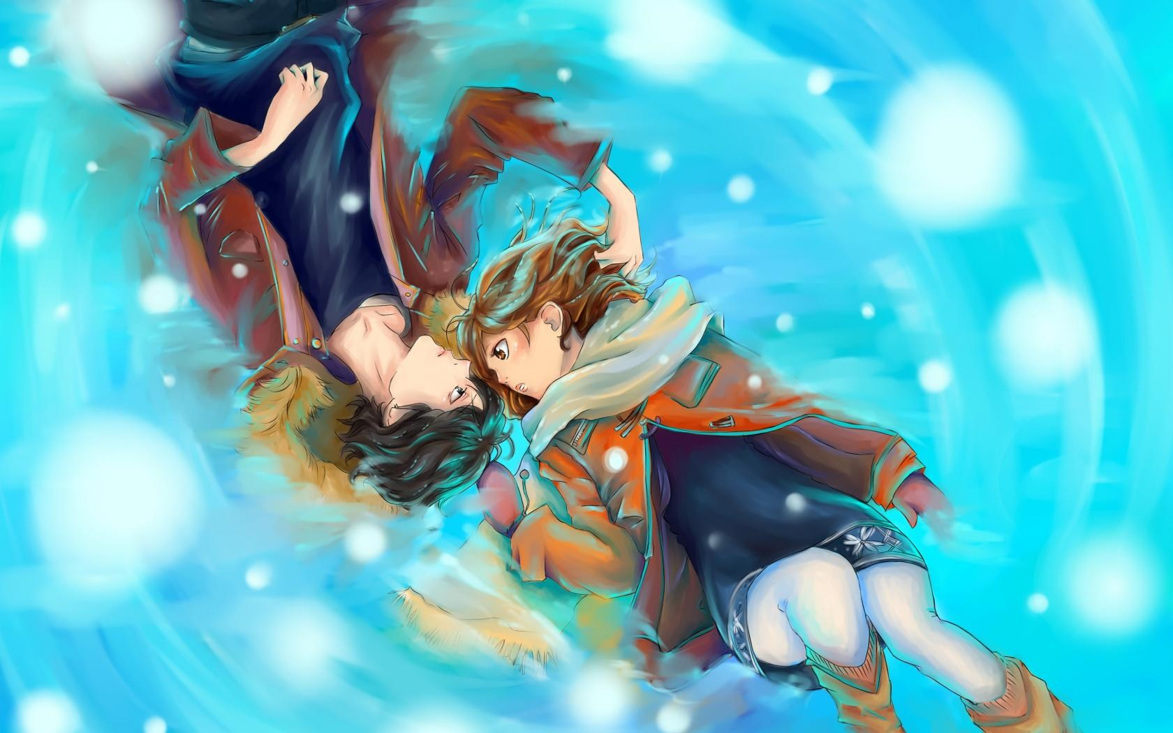 Anime Boy And Girl In Love , HD Wallpaper & Backgrounds