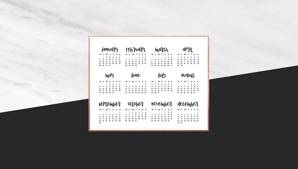 Audrey Of Oh So Lovely Blog Shares 12 Free 2019 Desktop - Desktop Background Calendar 2019 , HD Wallpaper & Backgrounds