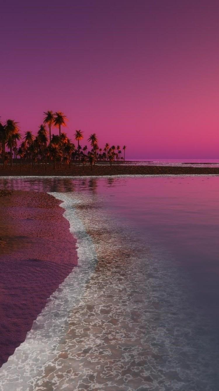 Digital Coastal Beach Sunset - Beach Wallpapers Iphone X , HD Wallpaper & Backgrounds
