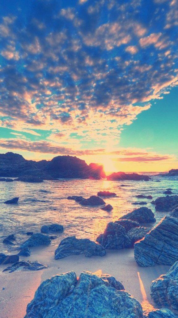 Amazing Beach Sunset Iphone Wallpaper Best Iphone Sunset