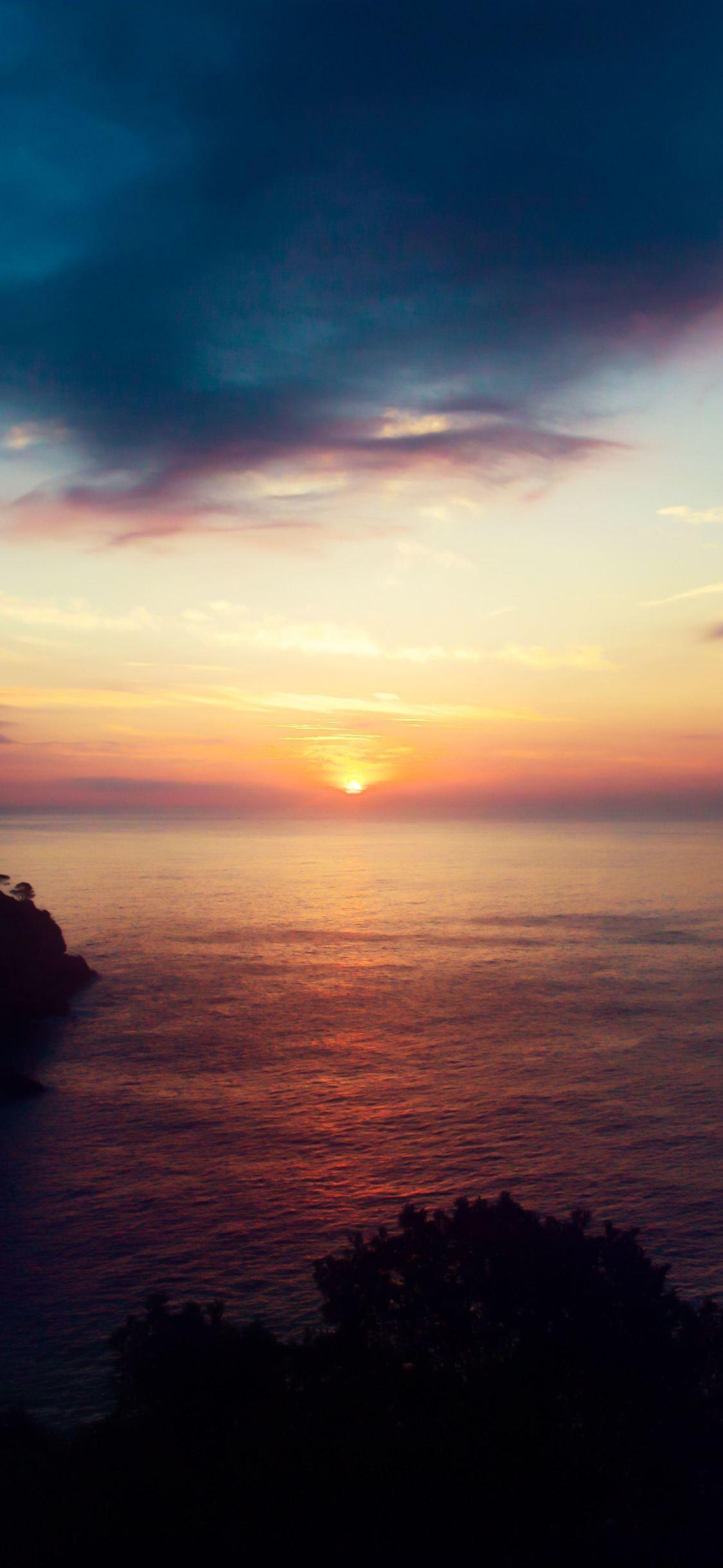 Ocean Beach Sunset - Iphone X , HD Wallpaper & Backgrounds