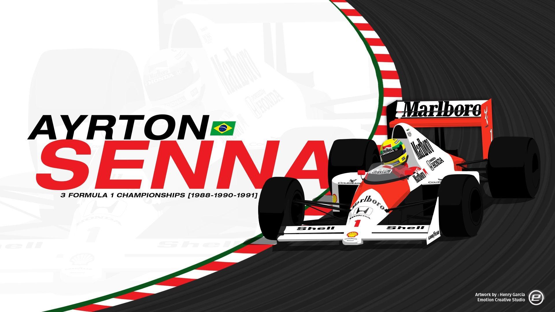 1920x1080 Ayrton Ayrton Senna Wallpaper Hd Desktop Art