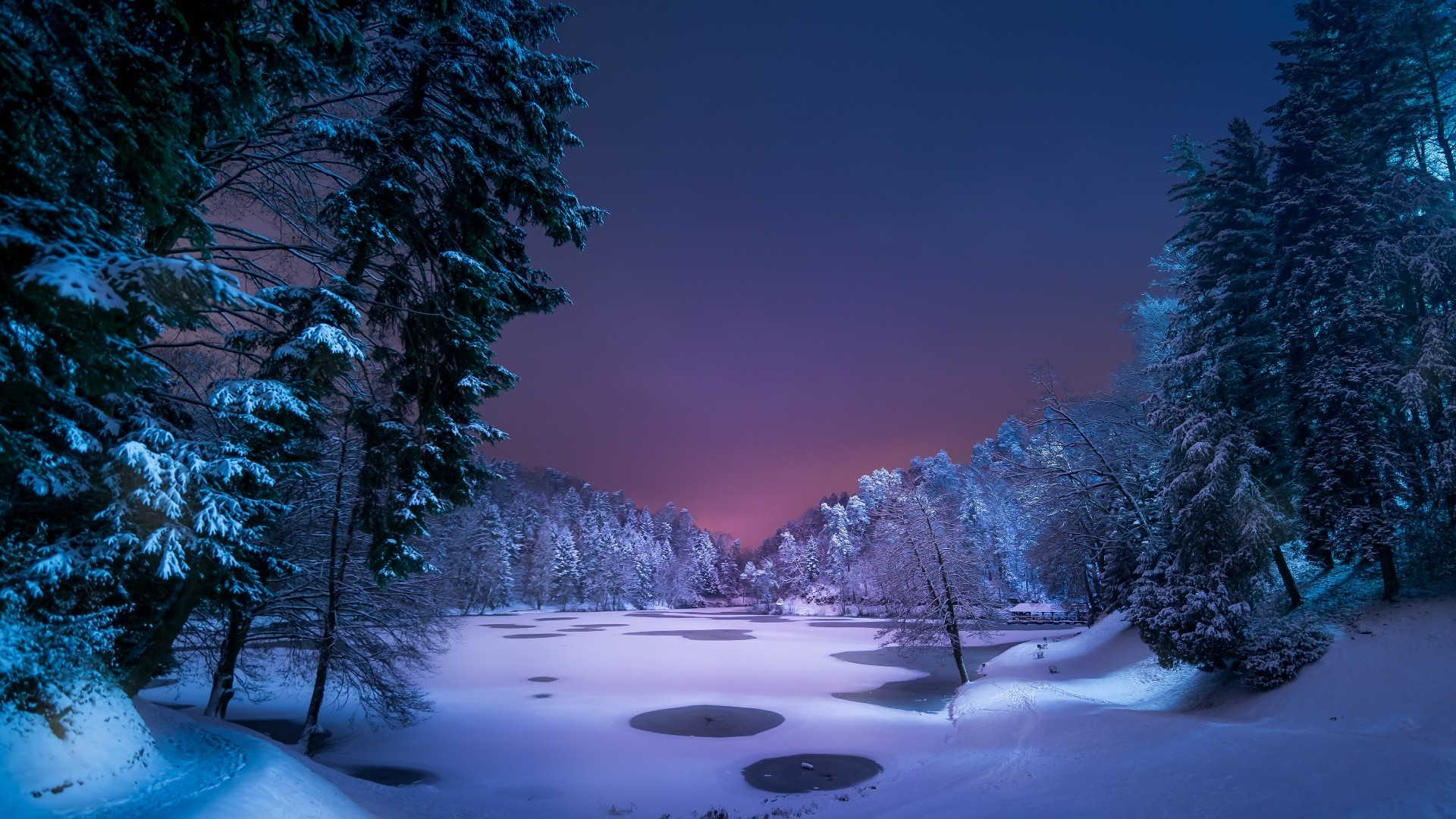 Rivers Winter Stream Forest Ice River Snow Water Cold