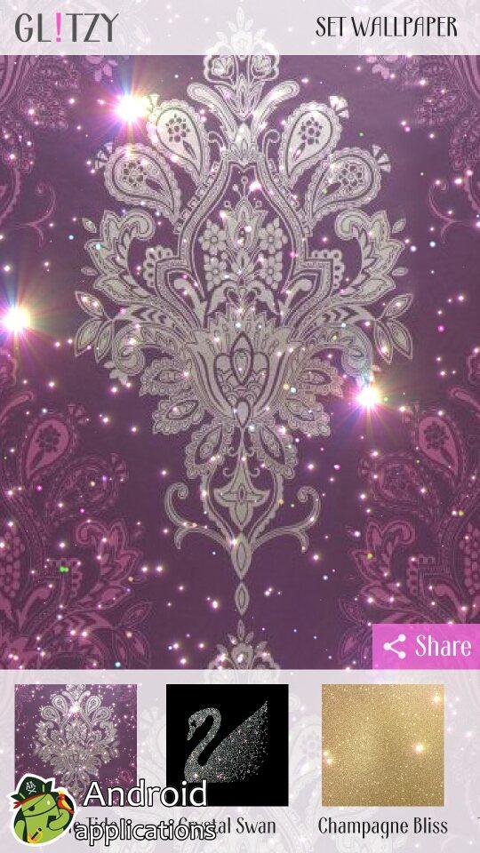 I Love Wallpapertm Glamour Real Glitter Wallpaper Hot - Fractal Art , HD Wallpaper & Backgrounds